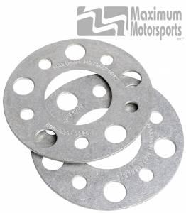 "1/8"" thick wheel spacers, 5-Lug, pair, 1979-2014 Mustang"